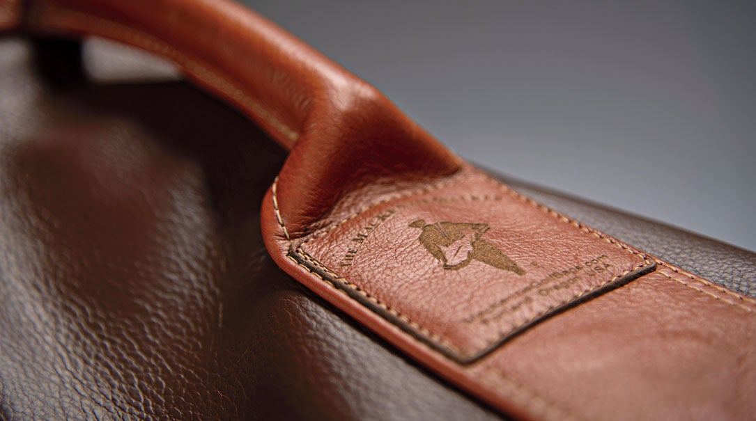 Each bag includes eye-catching details, like this Mackenzie logo.