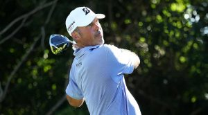 Matt Kuchar blasts his driver during the third round of the Mayakoba.