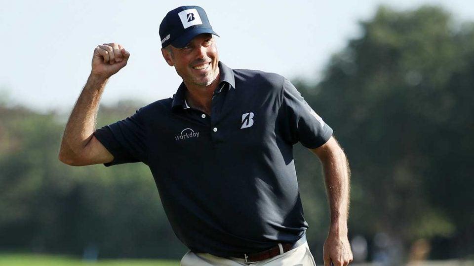 Matt Kuchar celebrates his victory at the Mayakoba Golf Classic?