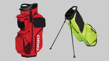 Ogio's two new golf bags: the Alpha Convoy 514 cart bag and the Shadow Fuse 304 stand bag.