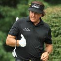 Phil Mickelson gives a thumbs up during a round.