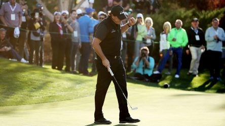 It took him 22 holes but Phil Mickelson won his big match against Tiger Woods.