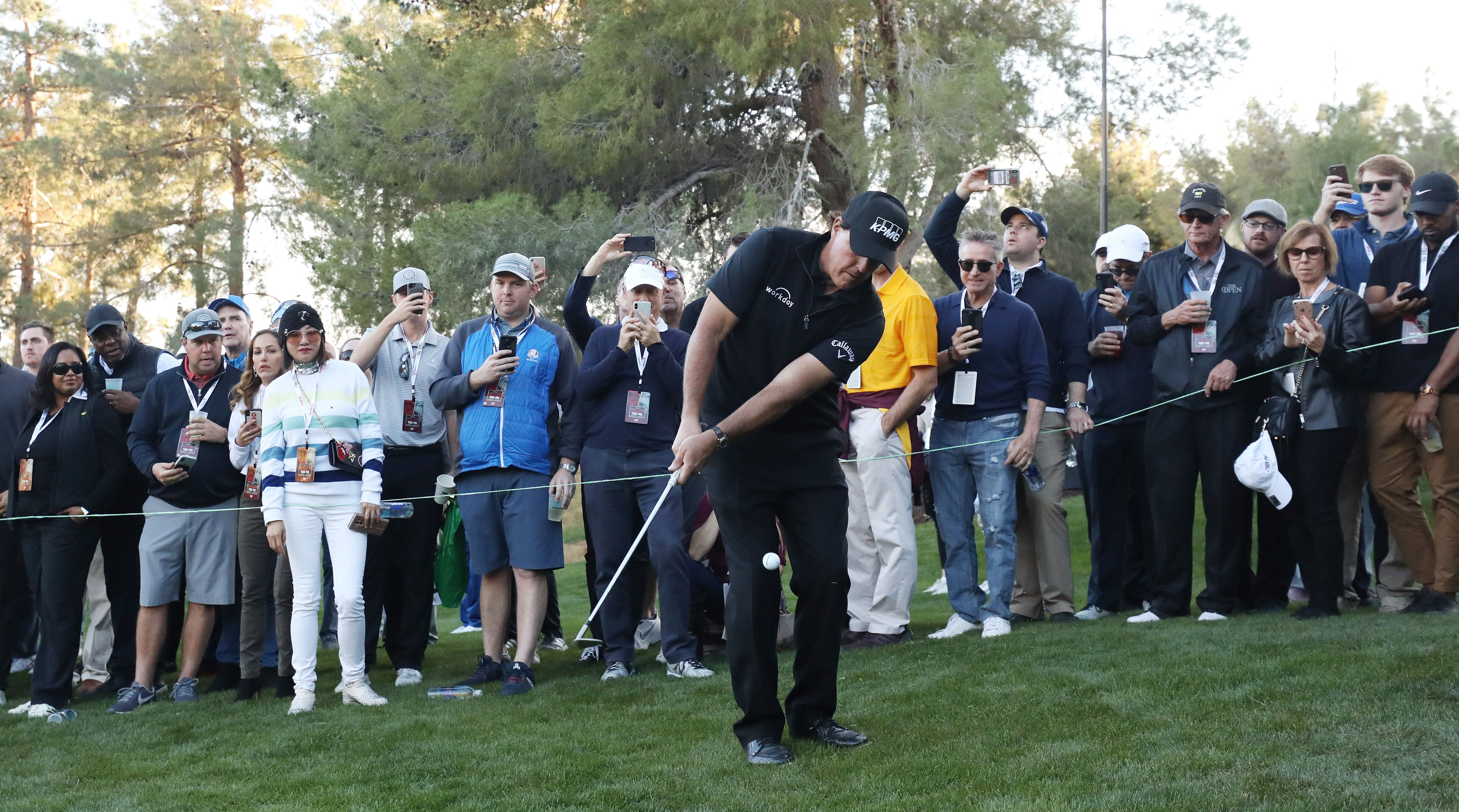 Phil Mickelson eventually prevailed in the inaugural Match.