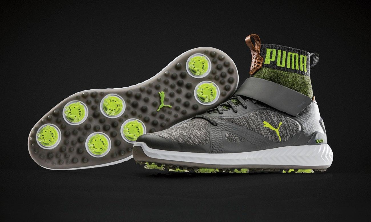 Puma Pwradapt Ignite golf shoes.