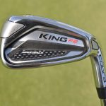 A look at Rickie FOwler's Cobra King F9 Speedback 4-iron.