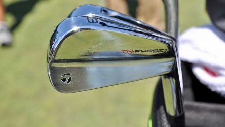 Tiger Wood switched to a set of TaylorMade TW Phase1 irons this year.