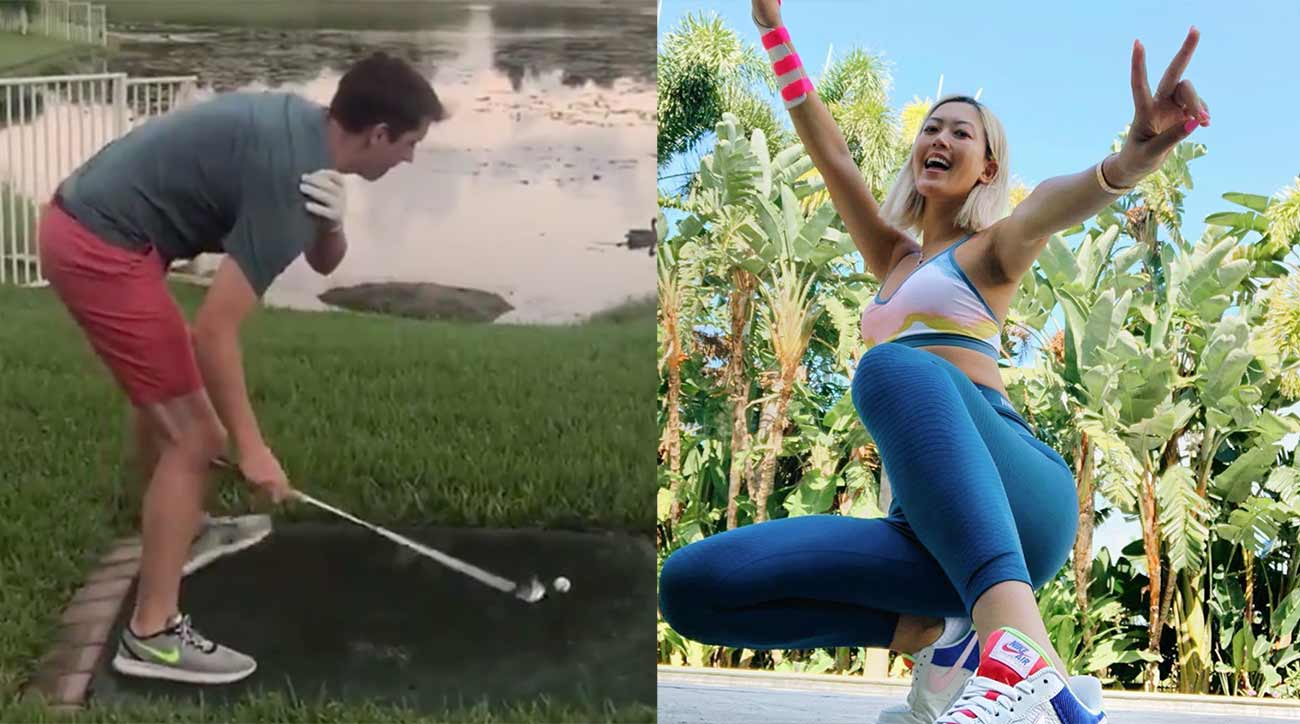 Jack Bartlett's swing impersonations and Michelle Wie's shoes.