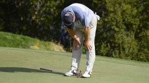 Bad golf shot