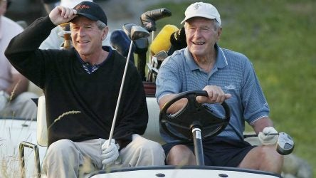 George H.W. Bush, George W. Bush, golf course