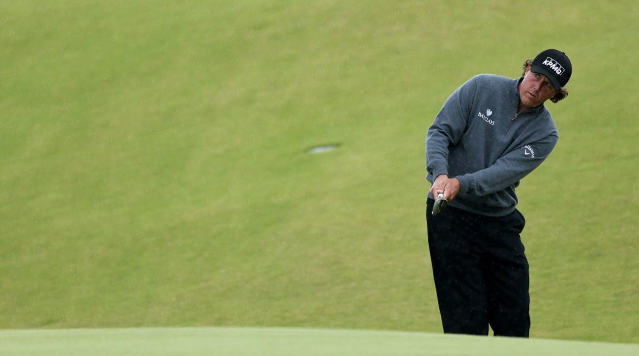 Hard to turn down a free chipping lesson from Lefty himself.
