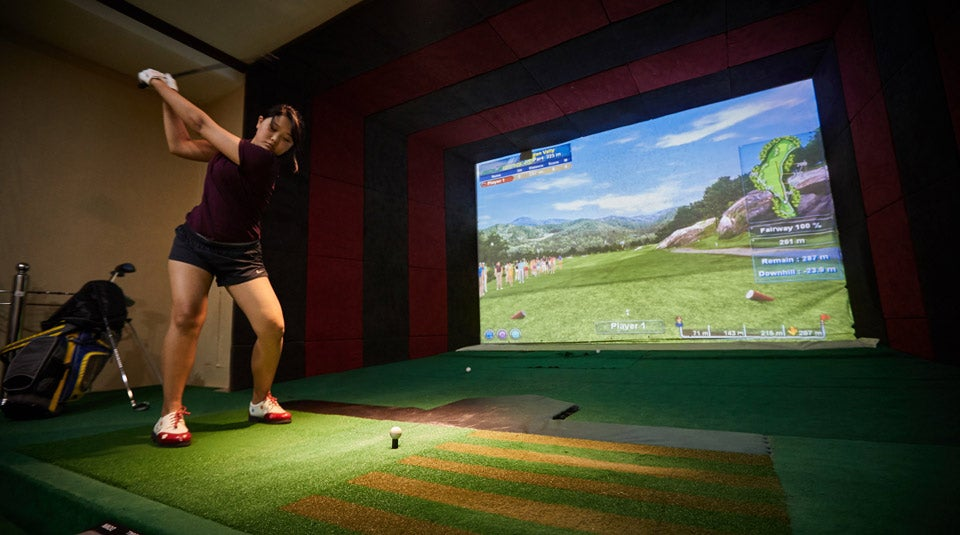Screen Golf. How almost all Mongolian golfers learned the game.