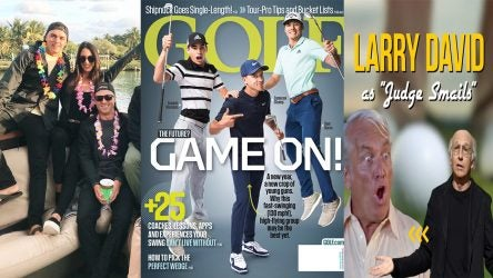 Rickie Fowler's birthday celebration, the GOLF magazine cover and Caddyshack.