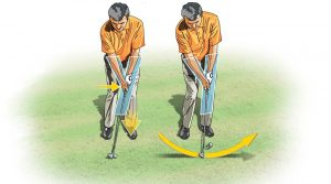 Chipping shaft lean