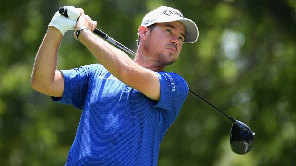 Brian Harman (pictured) and Patton Kizzire won the QBE Shootout on Sunday in Naples, Fla.