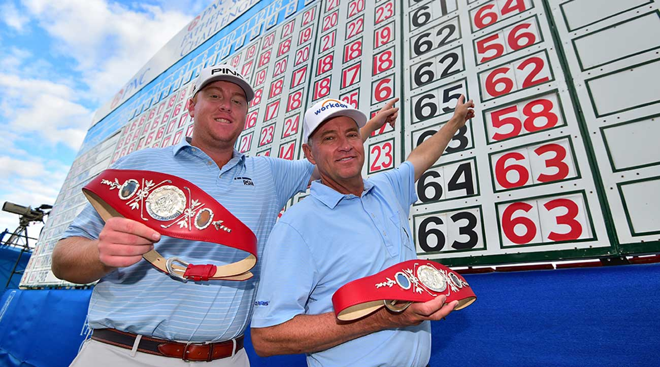 Davis Love III and Dru Love not only won on Sunday, they set a course record for the PNC Father-Son Challenge. (Photos: Gabe Roux)