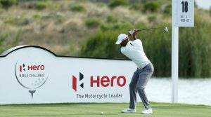 Tiger Woods tees off at the 2018 Hero World Challenge.