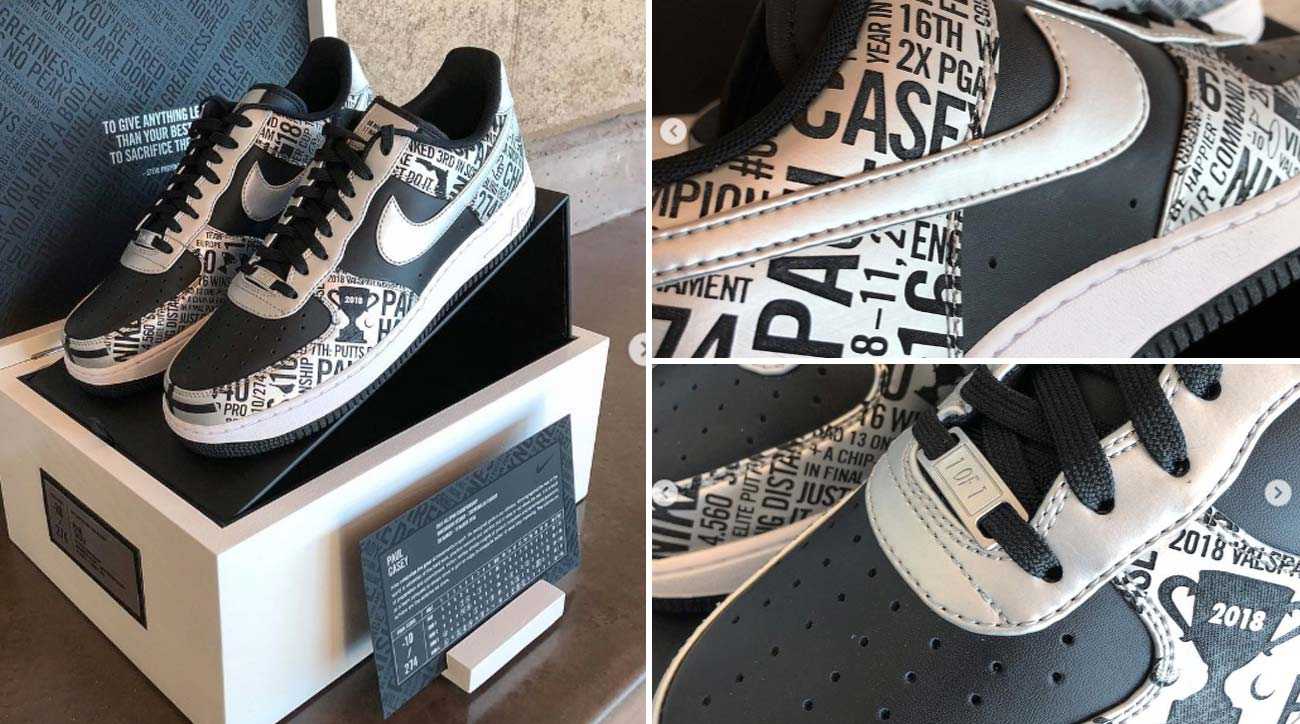 size 40 22852 148ae Winner s Kicks  Check out the one-of-a-kind Air Force 1 golf shoes Nike  gave Paul Casey