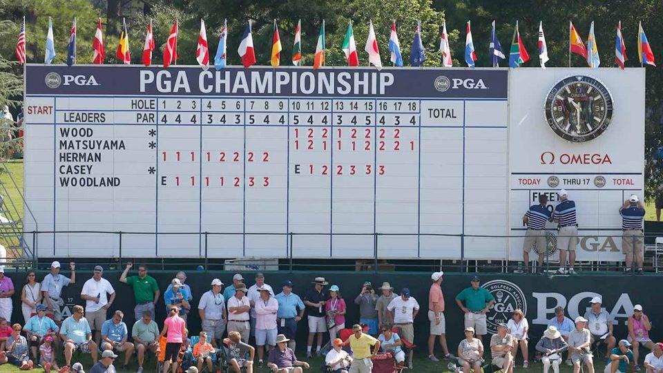 PGA Championship scoreboard