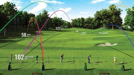 An illustration of what could be the new and improved golf range.