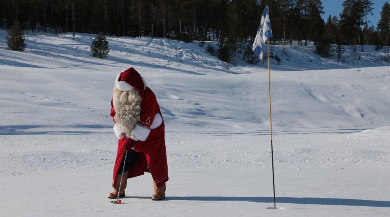 inside santa claus golf club  where reindeer roam the fairways