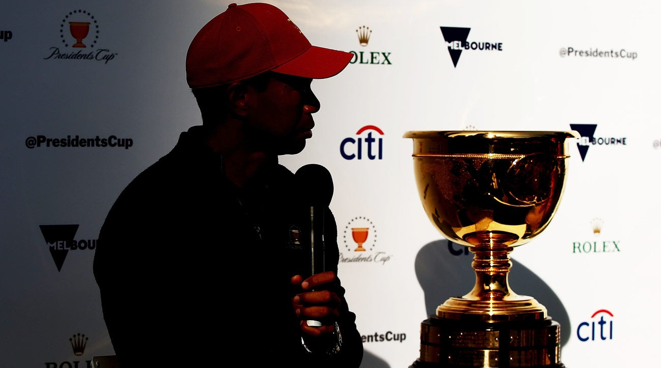 Tiger Wood in Australia to promote the upcming 2019 Presidents Cup, where he will serve as U.S. captain.
