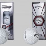 """Titleist's Pro V1x and Callaway's Chrome Soft X are two popular """"X"""" golf ball models."""