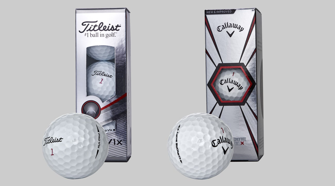 "Titleist's Pro V1x and Callaway's Chrome Soft X are two popular ""X"" golf ball models."