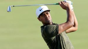 Tony Finau started using Ping's Blueprint prototype irons in the Bahamas.