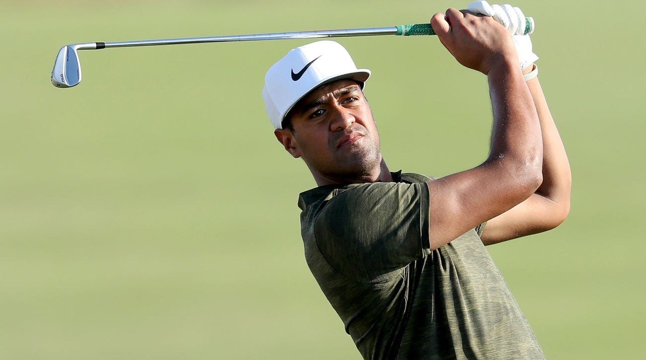 Tony Finau signed a deal with Ping this year that did not include the putter as part of the agreement.