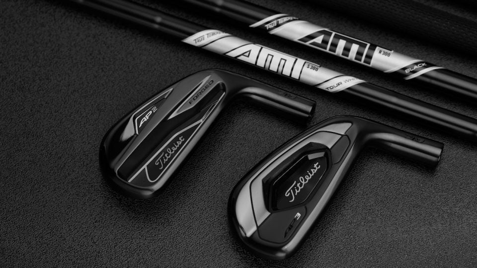 Titleist AP2 and AP3 Black irons.