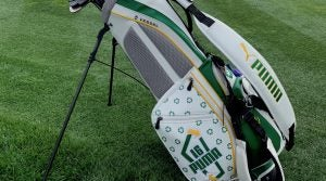 Rickie Fowler is using a custom Puma stand bag at the Waste Management Phoenix Open.