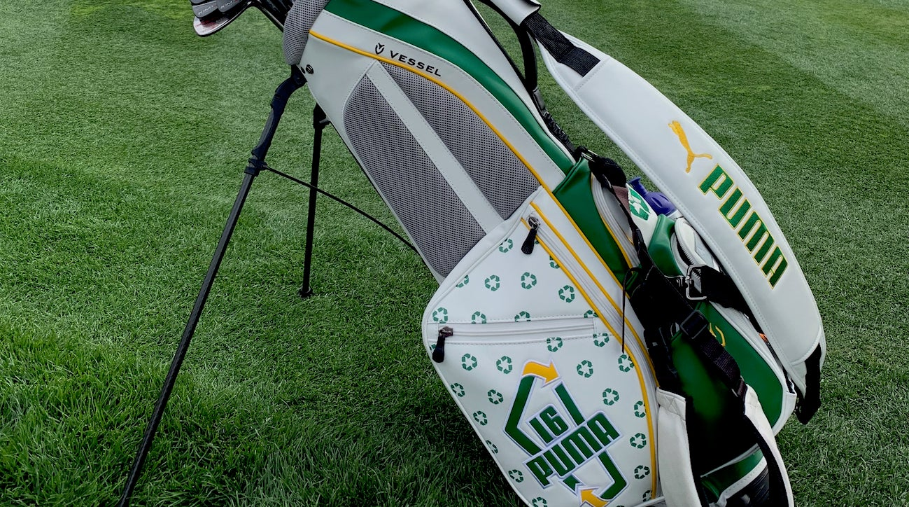 fc26ff733a8dff Rickie Fowler using custom Puma stand bag at the Waste Management Phoenix  Open