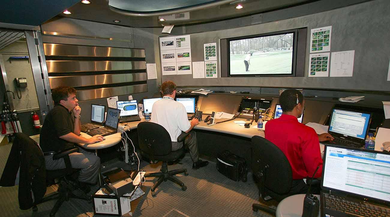 Golf TV broadcast control room