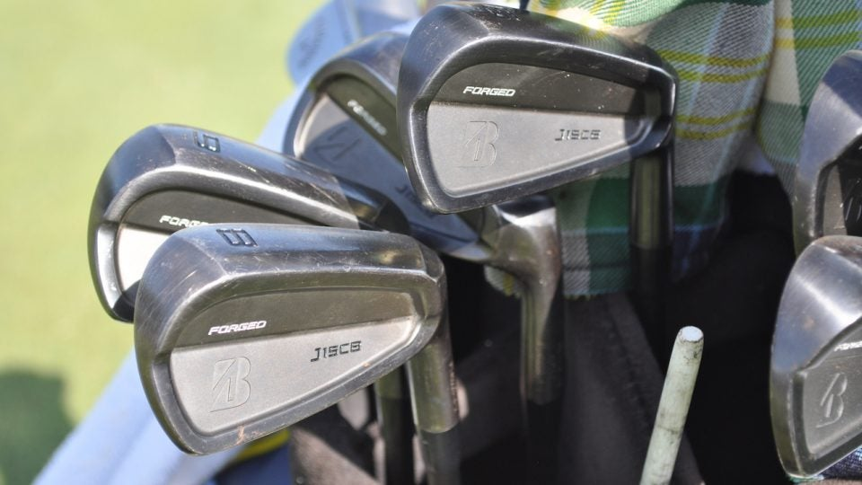 Matt Kuchar's Bridgestone J15 CB irons.