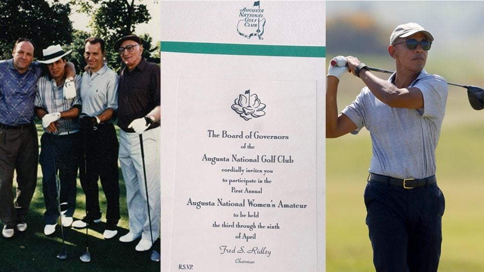The Sopranos' love of golf, Augusta National's Women's Invitations and President Obama's golf game has social media buzzing.