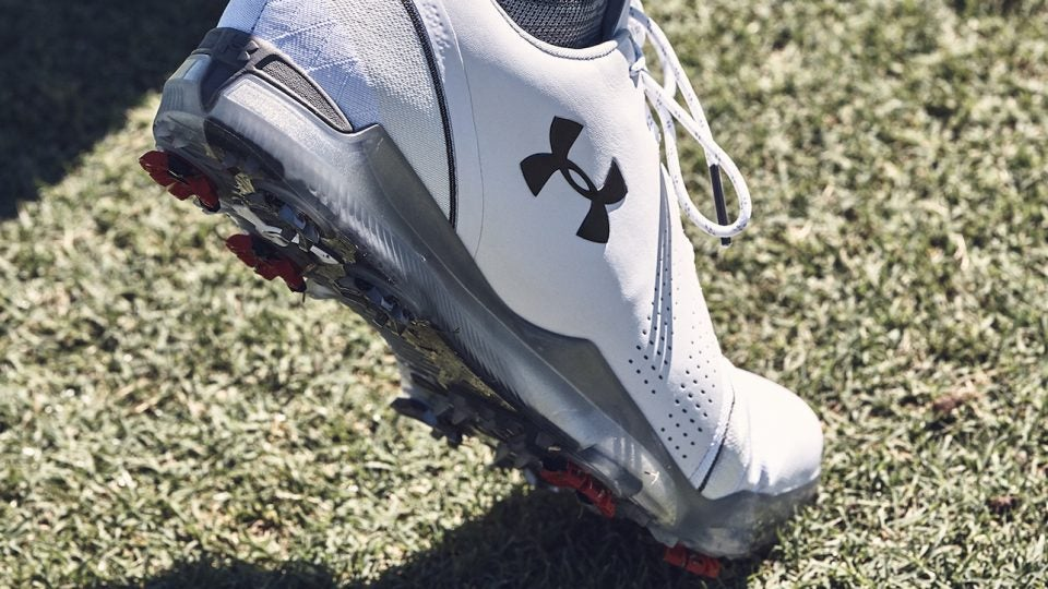 Jordan Spieth's new Under Armour Spieth 3 golf shoes were designed to feel like Spieth's favorite training shoes.