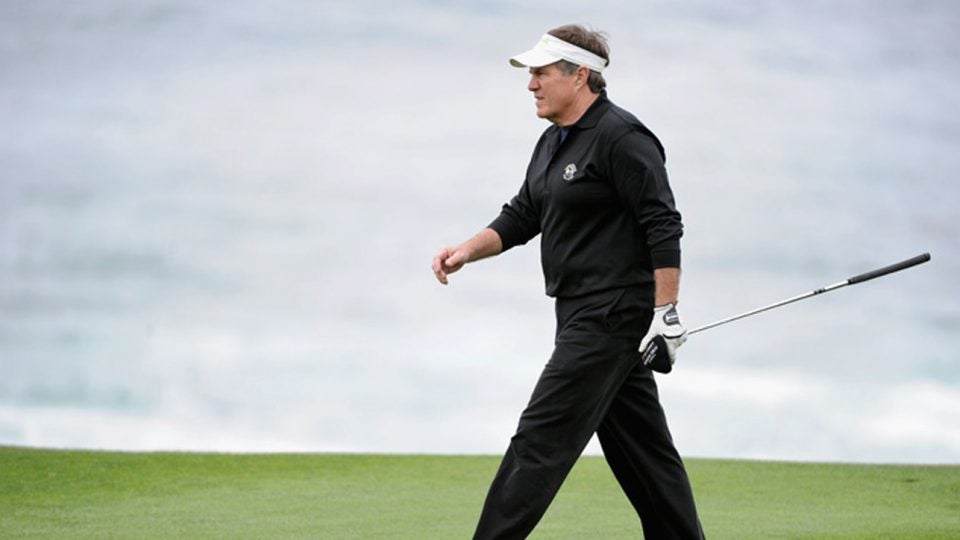 Bill Belichick frequently plays in the Pebble Beach Pro-Am every February.