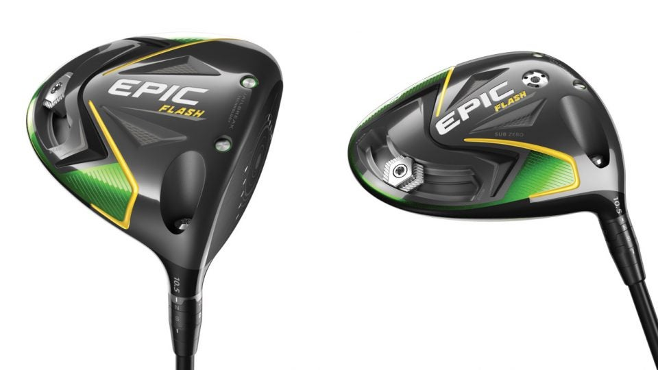 Callaway's Epic Flash (left) and Epic Flash Sub Zero drivers (right).