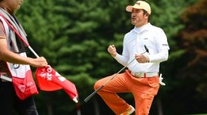 Hosung Choi during the third round of the Kolon Korea Open Golf Championship.