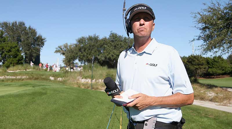"Jim ""Bones"" Mackay has worked as an on-course reporter since he split with Phil Mickelson."