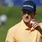 Justin Rose waves to the crowd during Sunday's final round.