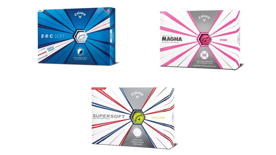 Callaway's three new golf ball models for 2019 include the ERC Soft, the Supersoft, and the Supersoft Magna.