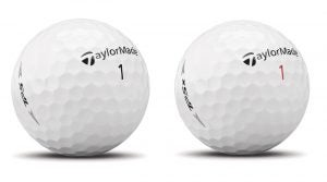 TaylorMade's TP5 and TP5x golf balls.