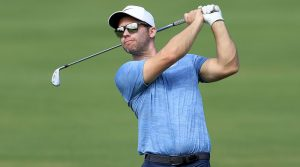 Paul Casey was photographed with a Honma driving iron at Kapalua.