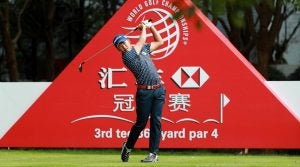 Shugo Imahira during the second round of the 2018 WGC-HSBC Champions.