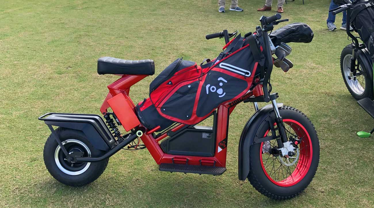 Motorbikes and scooters are fast and fun ways to play golf
