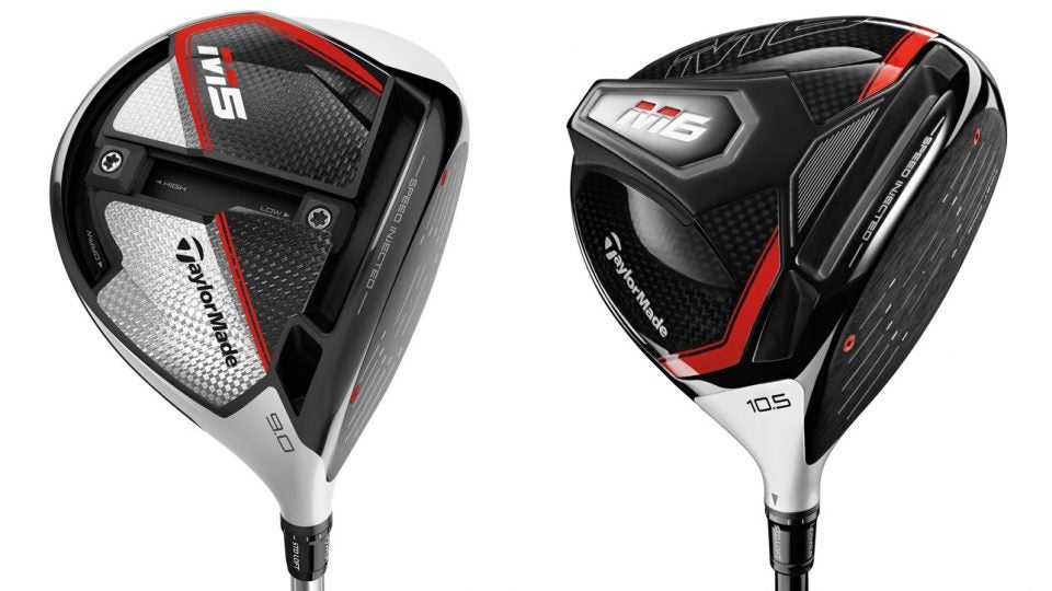 TaylorMade's recently released M5 and M6 drivers.