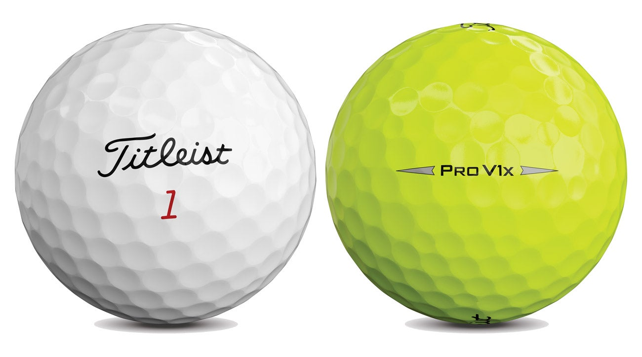 The new Titleist Pro V1x golf balls