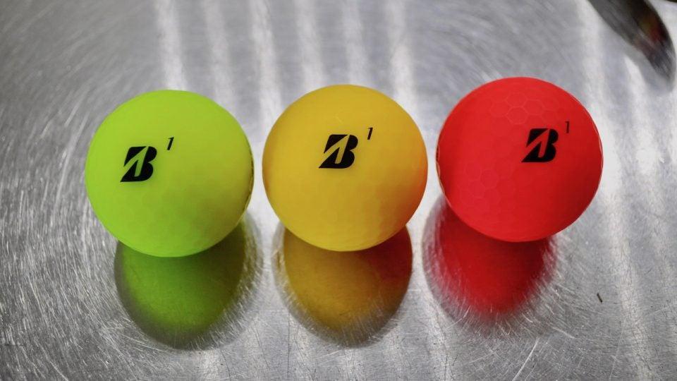Bridgestone's e12 Soft golf ball comes in three matte finishes.