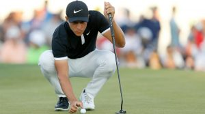 Cameron Champ wore black and white golf shoes to commemorate Black History Month at the Waste Management Phoenix Open.